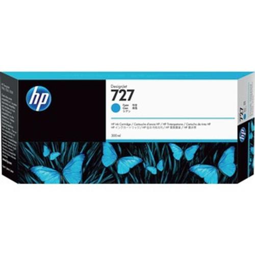 HP 727 Ink Cartridge - Cyan 300ml - F9J76A
