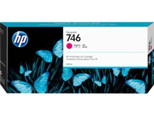 HP 746 300-ml Magenta DesignJet Ink Cartridge, P2V78A