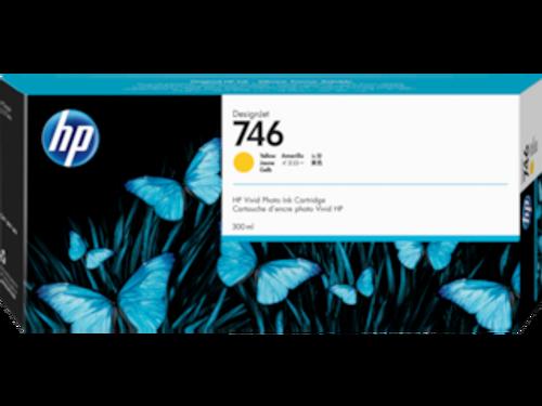 HP 746 300-ml Yellow DesignJet Ink Cartridge, P2V79A