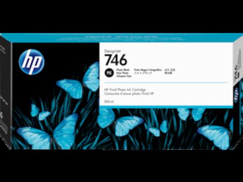 HP 746 300-ml Photo Black DesignJet Ink Cartridge, P2V82A