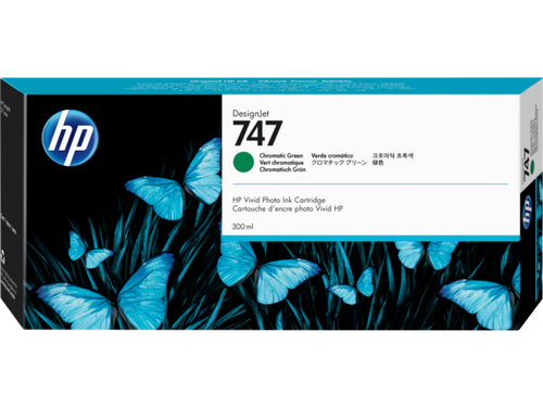 HP 747 300-ml Chromatic Green DesignJet Ink Cartridge, P2V84A