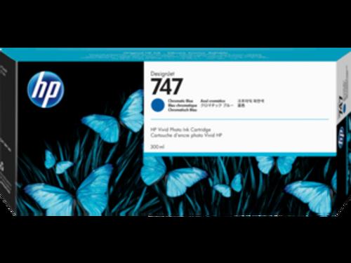 HP 747 300-ml Chromatic Blue DesignJet Ink Cartridge, P2V85A