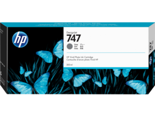 HP 747 300-ml Gray DesignJet Ink Cartridge, P2V86A