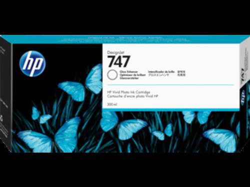 HP 747 300-ml Gloss Enhancer DesignJet Ink Cartridge, P2V87A