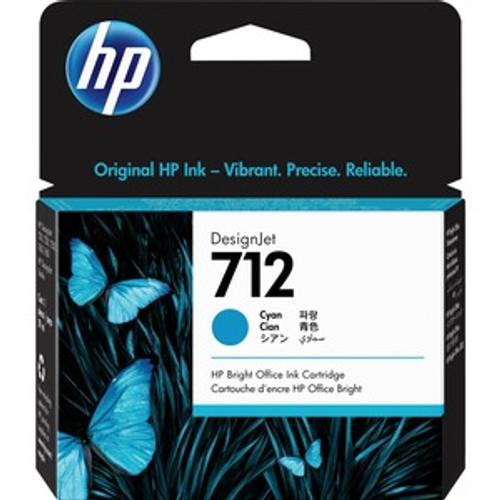 HP 712 29ml Cyan Ink Cartridge - 3ED67A