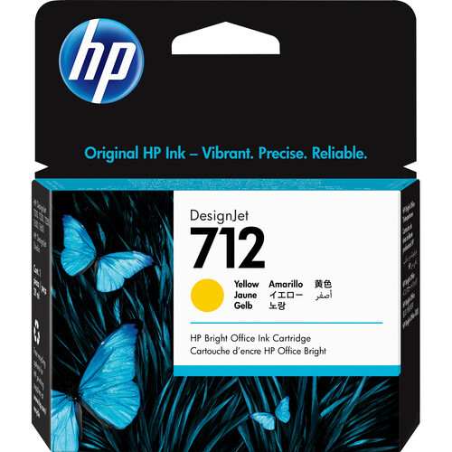 HP 712 29ml Yellow Ink Cartridge - 3ED69A