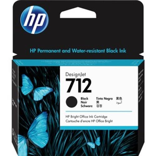 HP 712 80ml Black Ink Cartridge High Yield - 3ED71A
