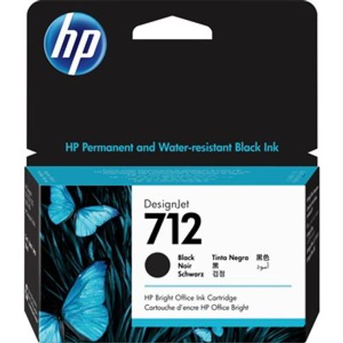 HP 712 38ml Black Ink Cartridge - 3ED70A
