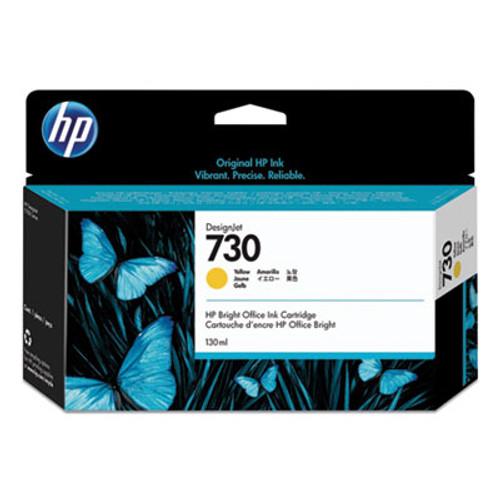 HP 730 130-ml Yellow DesignJet Ink Cartridge, P2V64A