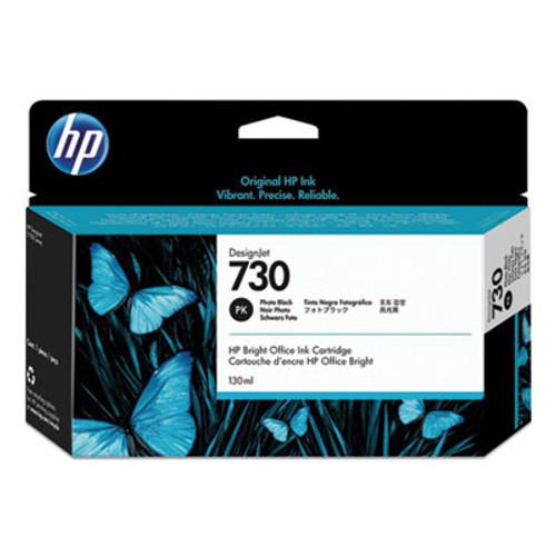 HP 730 130-ml Photo Black DesignJet Ink Cartridge, P2V67A