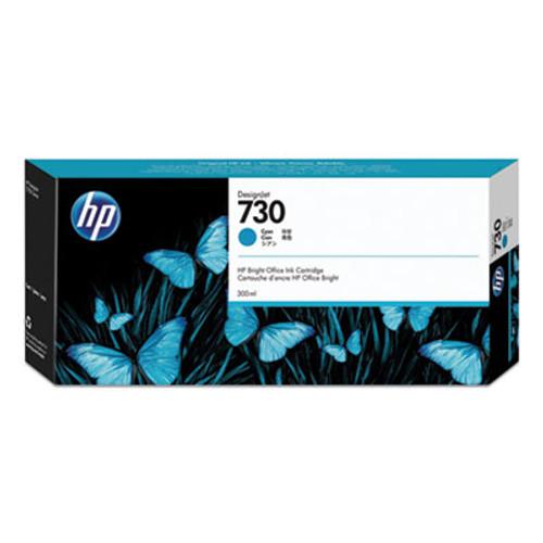 HP 730 300-ml Cyan DesignJet Ink Cartridge, P2V68A