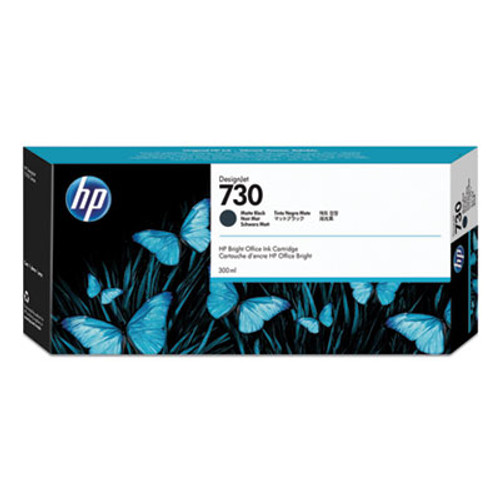 HP 730 300-ml Matte Black DesignJet Ink Cartridge, P2V71A