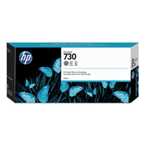HP 730 300-ml Gray DesignJet Ink Cartridge, P2V72A
