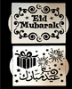 Eid Stencil Set of 2 (1 Arabic & 1 English)
