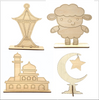 All 4 Crafts- Moon, Mosque Lantern and Sheep