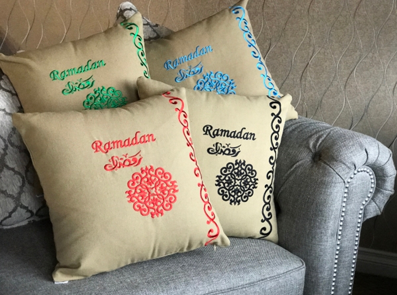 Ramadan Embroidered Pillow Case
