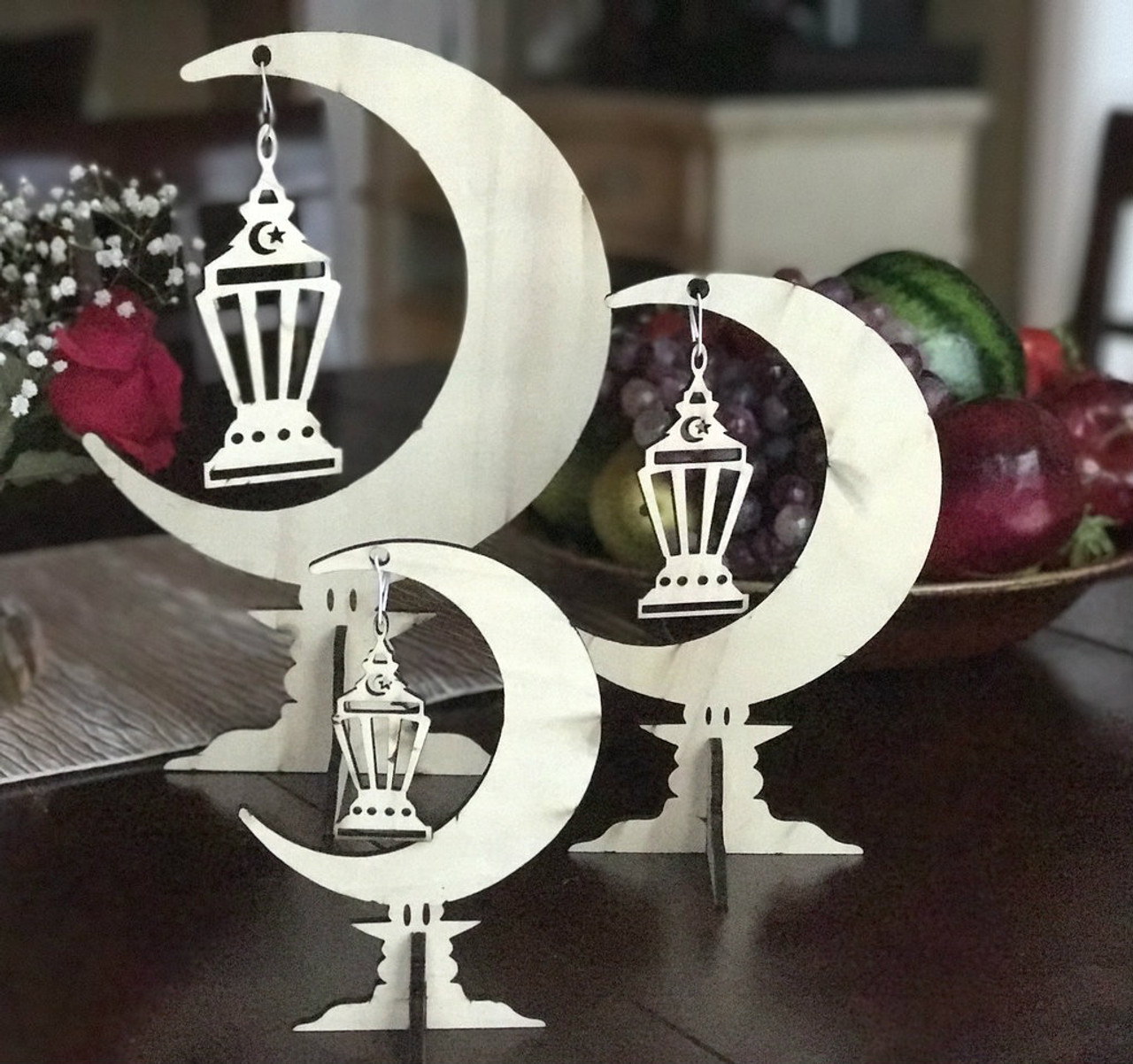 Three Moon Center Pieces Stand