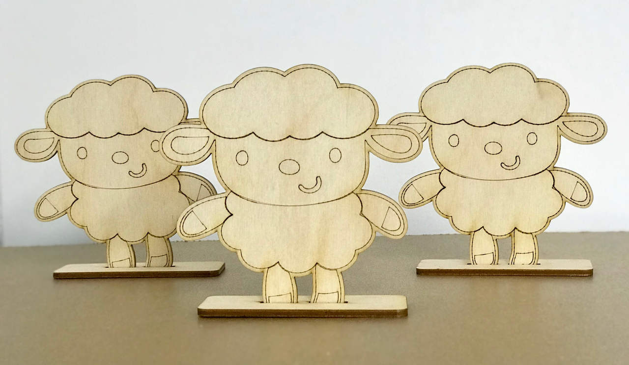 Happy Sheep set of  3