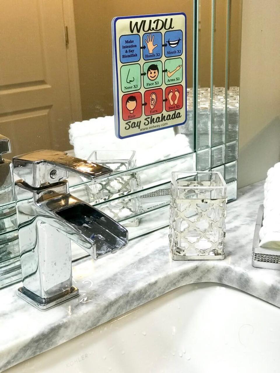 Wudu Chart Mirror Cling