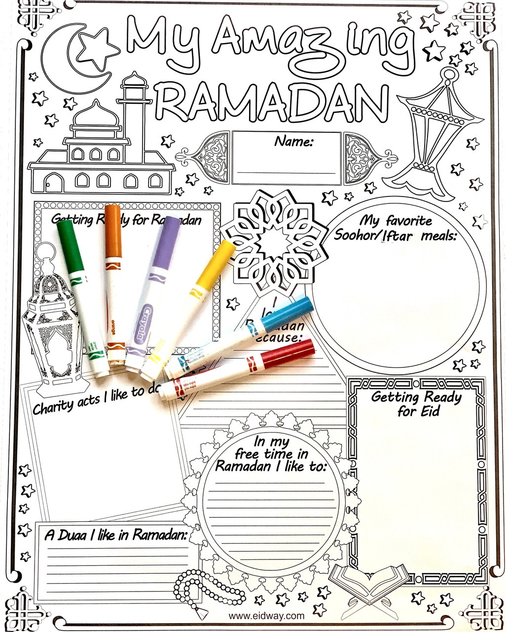 24 My Amazing Ramadan Posters ($1 Each)