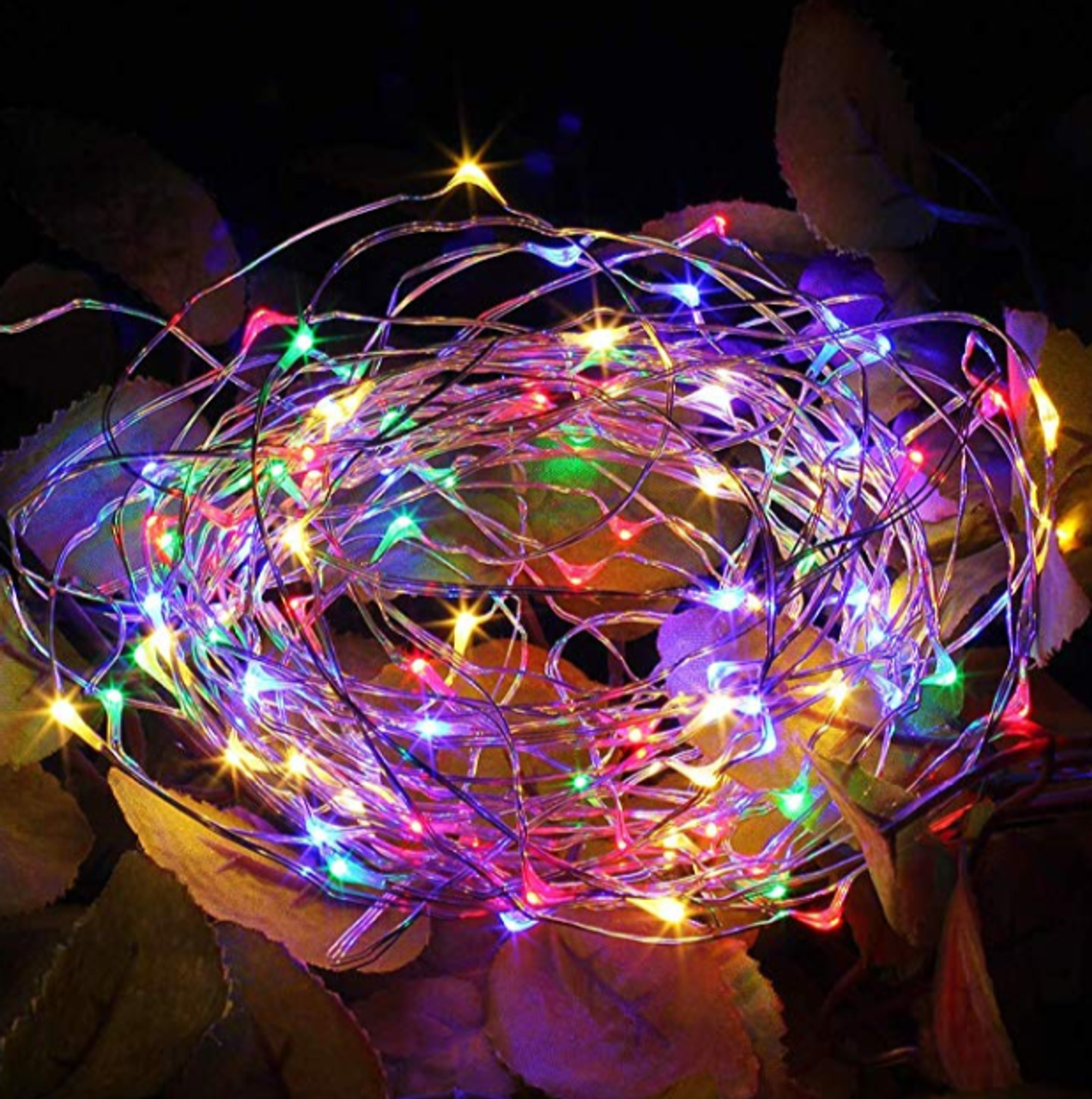 LED Fairy Lights 33 feet 100 LED LIGHTS- Dual power (Battery /USB) Multi Color