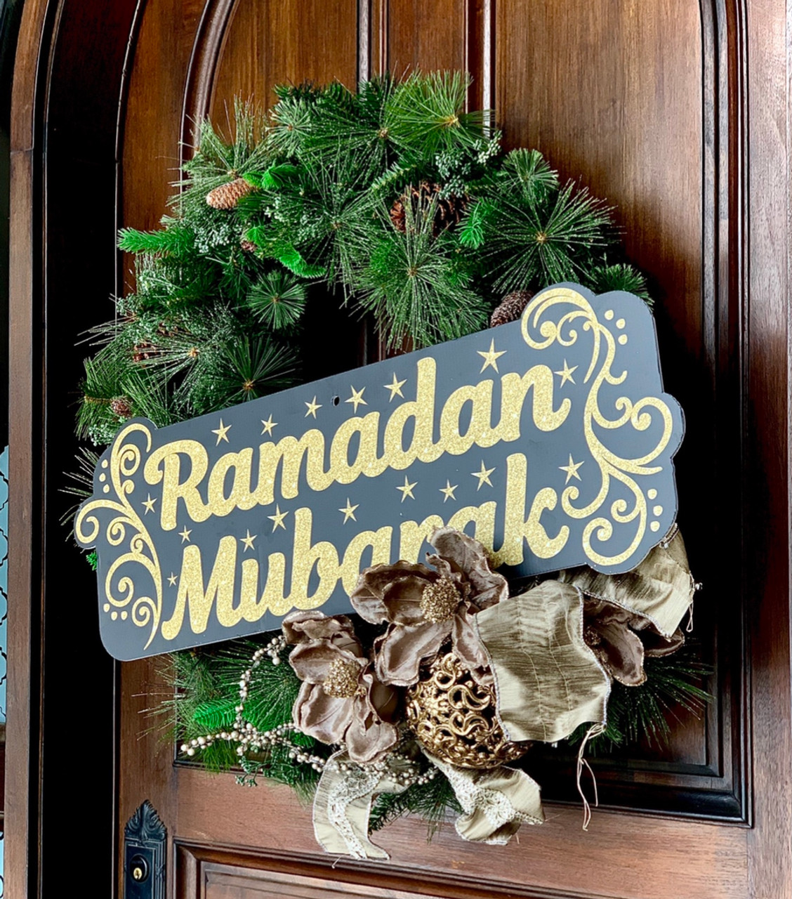 Ramadan Mubarak Large Yard Sign-Multi Use Indoor/Outdoor (Stake Included)