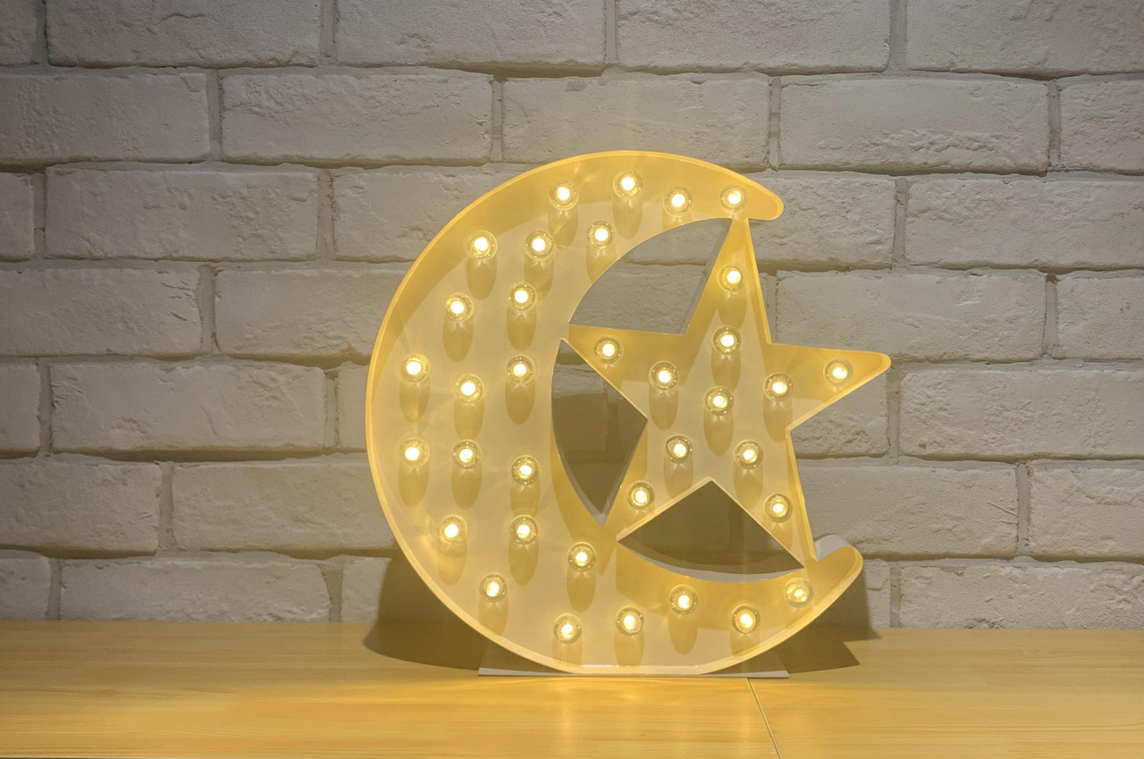 NEW-Moon Marquee Lights