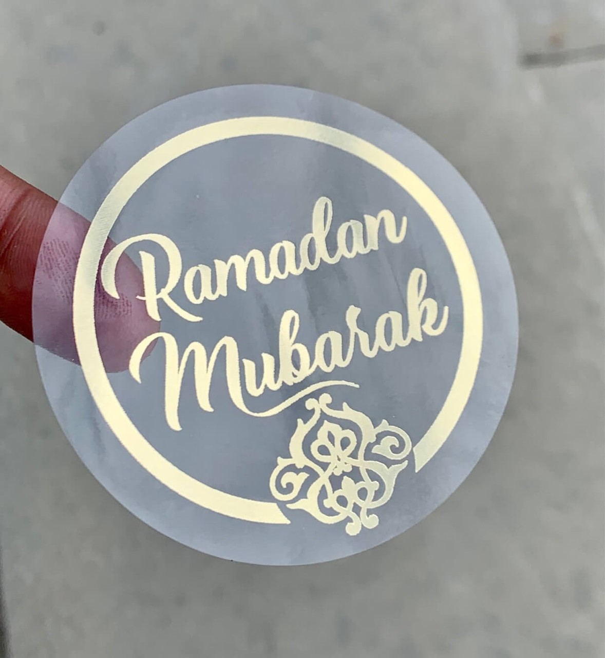 Ramadan Mubarak Gold foil Stickers Set of 12