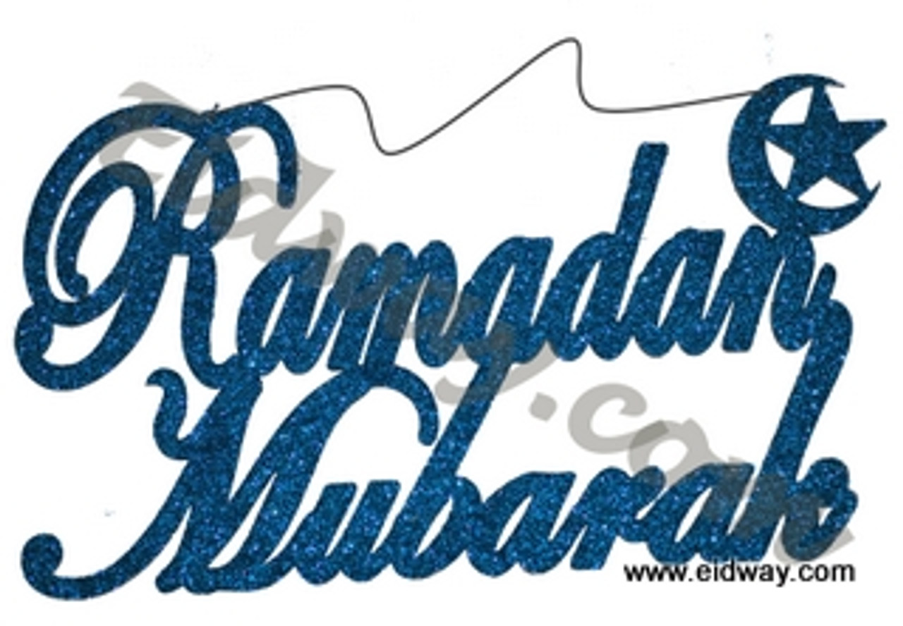 New-Glitter Ramadan Mubarak wood Hanging