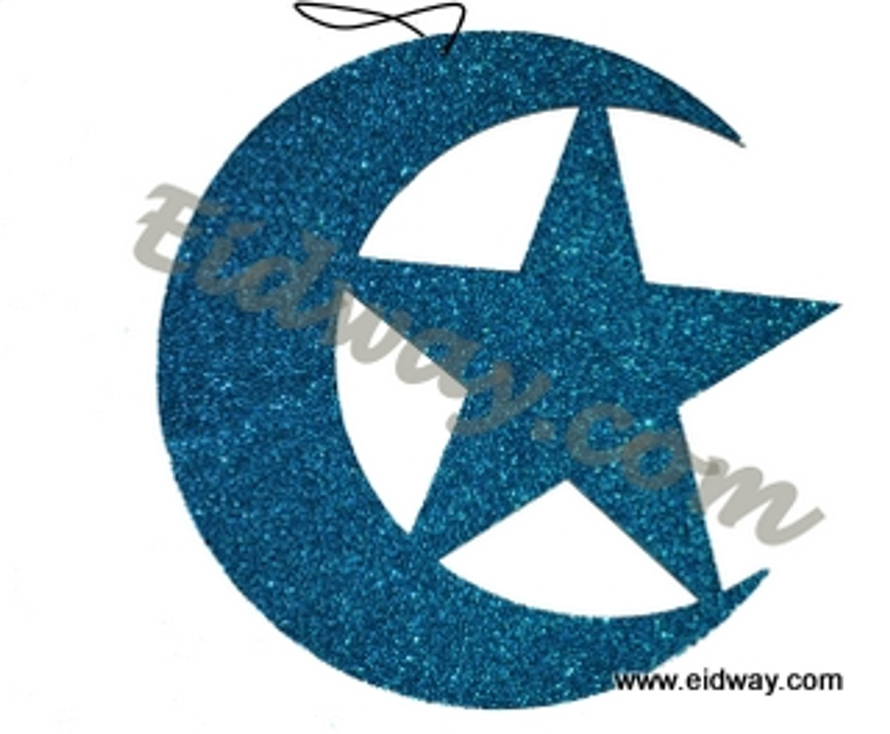 Double sided Glitter Moon and Star- Real wood