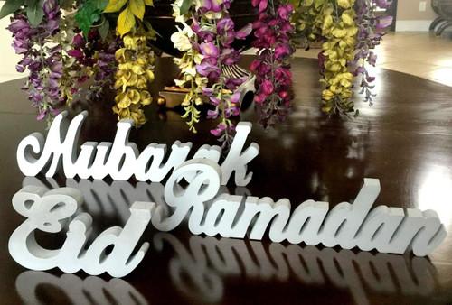 NEW MATERIAL -Ramadan Eid Mubarak Word Stands - All 3 words