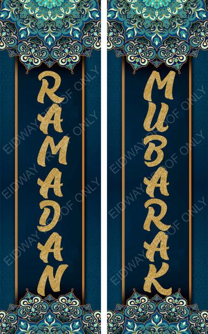 Ramadan Mubarak Vertical Banners Set