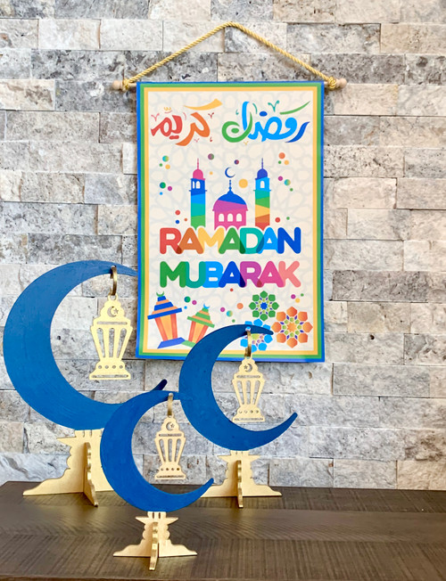 Ramadan Mubarak Kids Hanging Sign