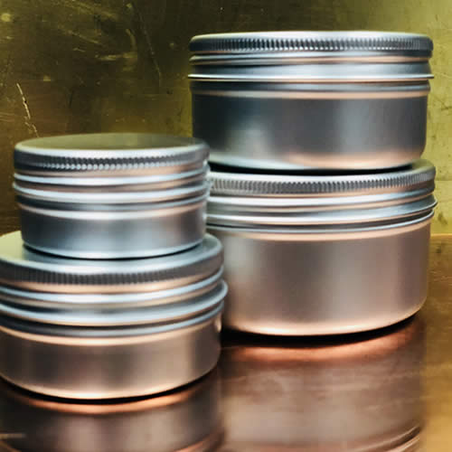 Aluminium Jars 15ml to 200ml available from stock