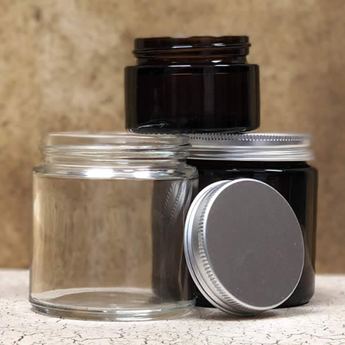 Glass Jars for Cosmetic packaging and skincare use full recyclable