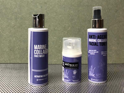 Marine Collagen Skincare range using pro collagen and natural ingredients