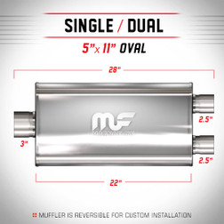 Magnaflow 12588_Satin Stainless Muffler
