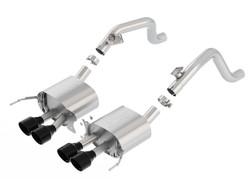 Borla 11868BC | 2014-2017 Chevrolet Corvette w/o npp | 6.2L | Axle Back Stainless Exhaust System w/black chrome tips