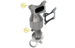 Magnaflow 5531441   Honda Accord 2.4L   Front Catalytic Converter   California Legal EO D-193-137-cad drawing