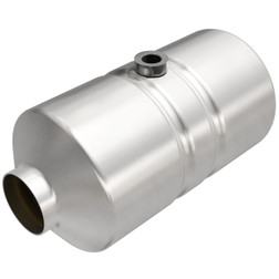 Magnaflow 455355 | 2.25in in/out | Round Body with mid bed o2 port |  Universal California Legal Catalytic Converter | EO D-193-115