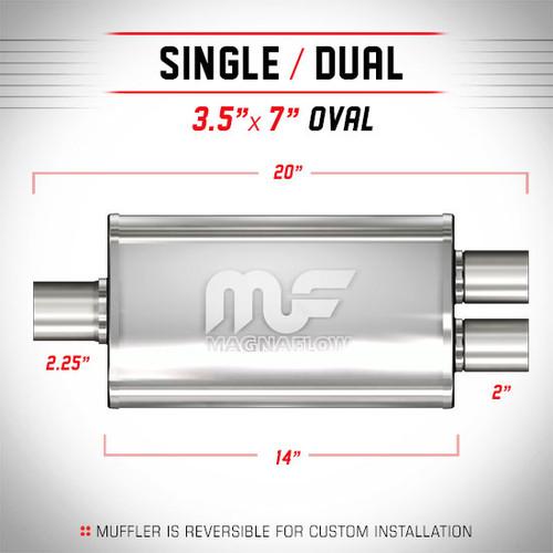 Magnaflow 11148_Satin Stainless Muffler