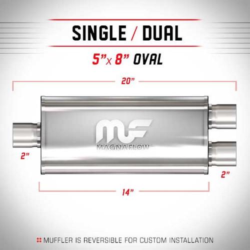 Magnaflow 12128_Satin Stainless Muffler