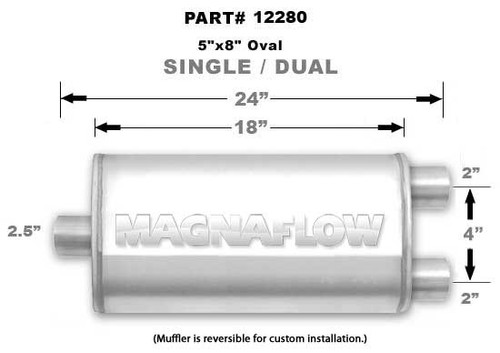 Magnaflow 12280_Satin Stainless Muffler