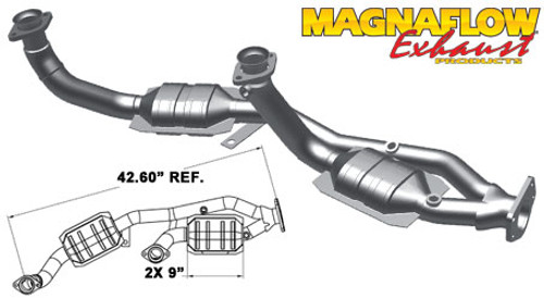 Magnaflow 49094_FORD WINDSTAR 3.8L Direct Fit OEM GRADE OBDII (Exc.CA)