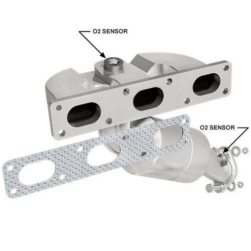 Magnaflow 452288 | BMW 325CI/325I/325XI/330CI/330I/Z3 | 2.5L/3L | Rear | Catalytic Converter-Direct Fit | California Legal | EO# D-193-124