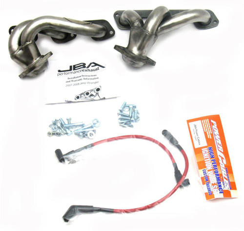 Jeep Wrangler 3.8L Stainless Steel Shorty Headers_ JBA | 2007-2011 Models