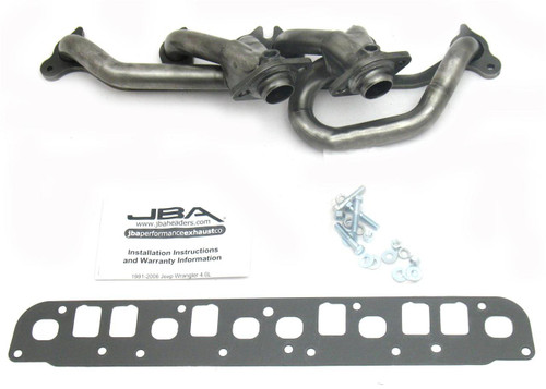 ited,JK)  4.0L Stainless Steel Shorty Headers_ JBA | 2000-2006 Models