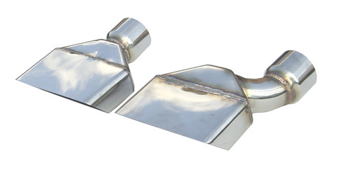 "Plymouth Cuda Stainless Tips, 1970-1974 models, 2.5"" Inlet"