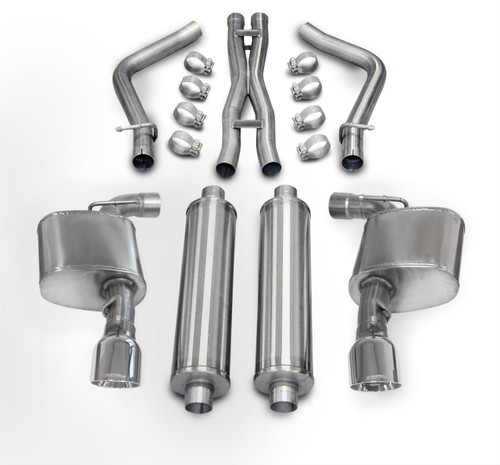 "Corsa 14464 | Xtreme Series | 2012-2013-2014 Dodge Charger, Chrysler 300 | SRT-8 | 4.5"" Pro Series Stainless Steel Tips 