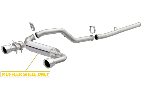 Magnaflow 19363   Ford Focus RS   2.3L   Race Series   Stainless Cat-Back Performance Exhaust System-Open Core Muffler